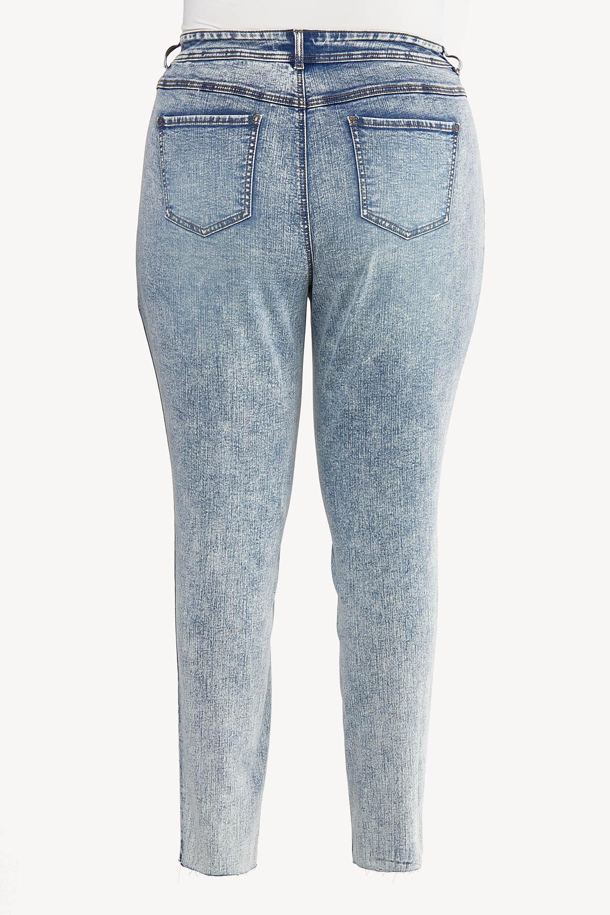 Plus Size Acid Wash Skinny Jeans (Item #44645841)
