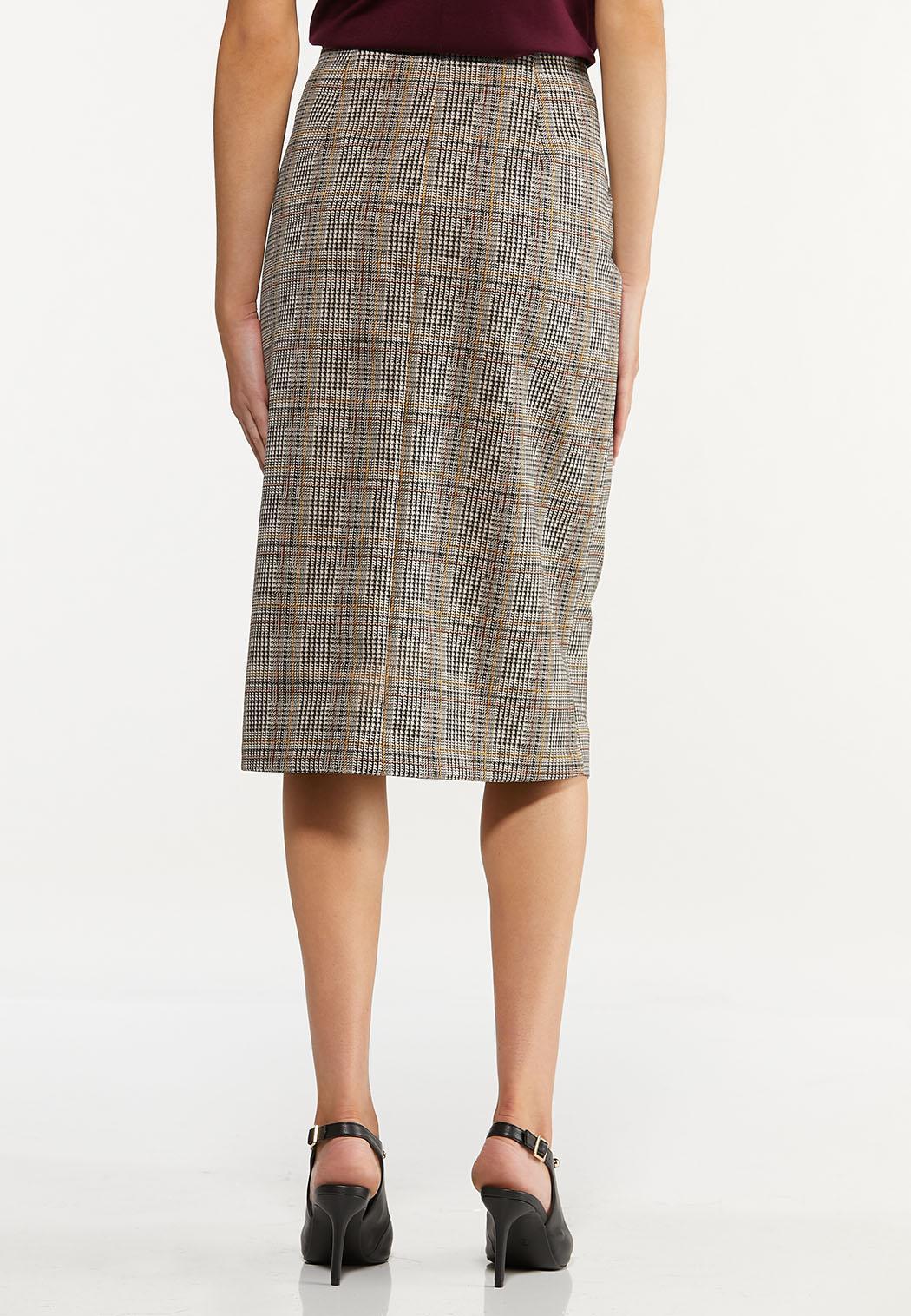 Plus Size Jacquard Pencil Skirt (Item #44645848)