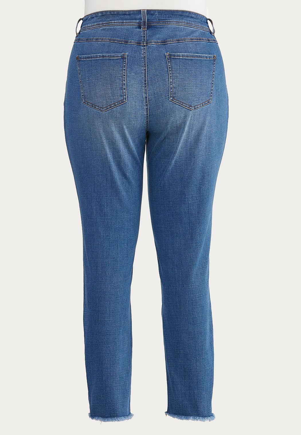 Plus Size Frayed Skinny Jeans (Item #44645880)
