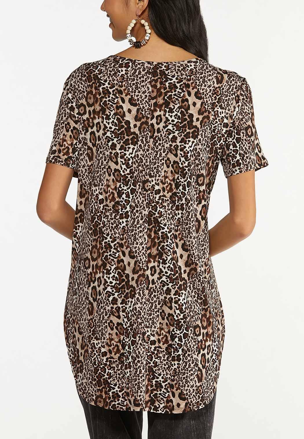 Leopard Lattice Neck Tunic (Item #44645975)