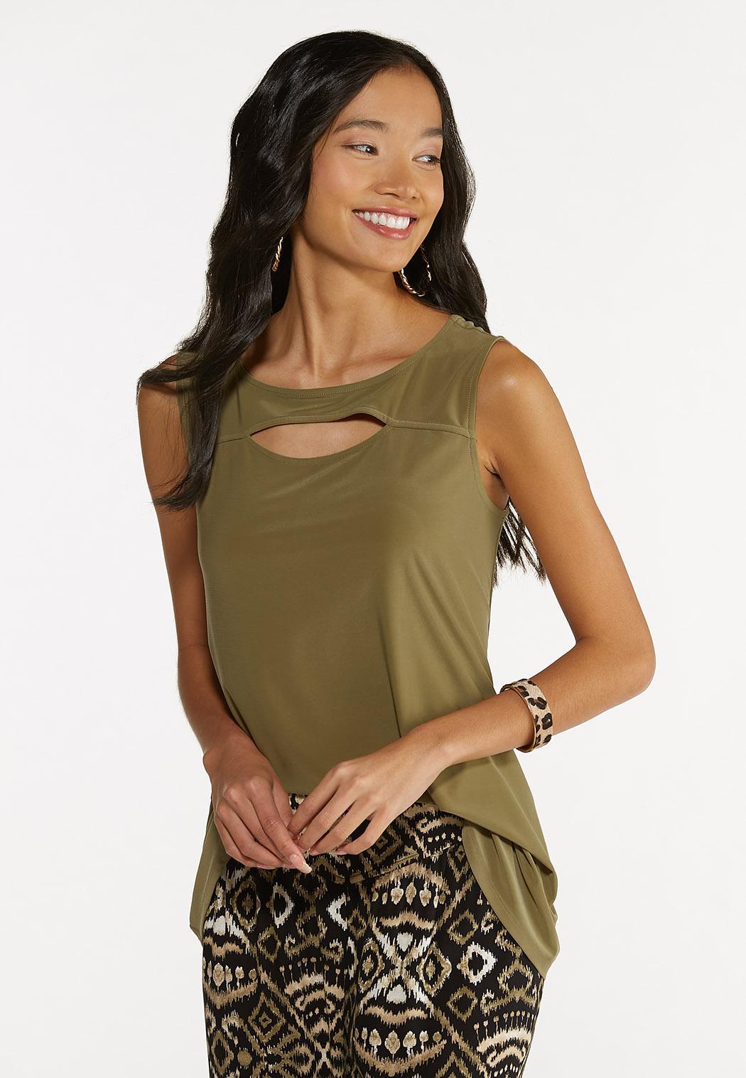Dressy Cutout Tank (Item #44645993)
