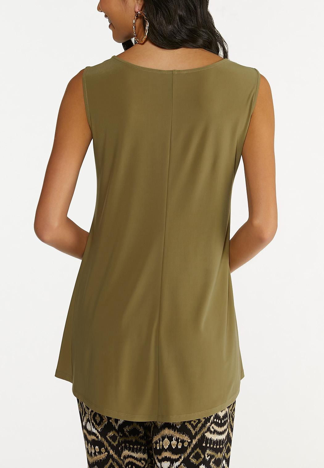 Plus Size Dressy Cutout Tank (Item #44646027)