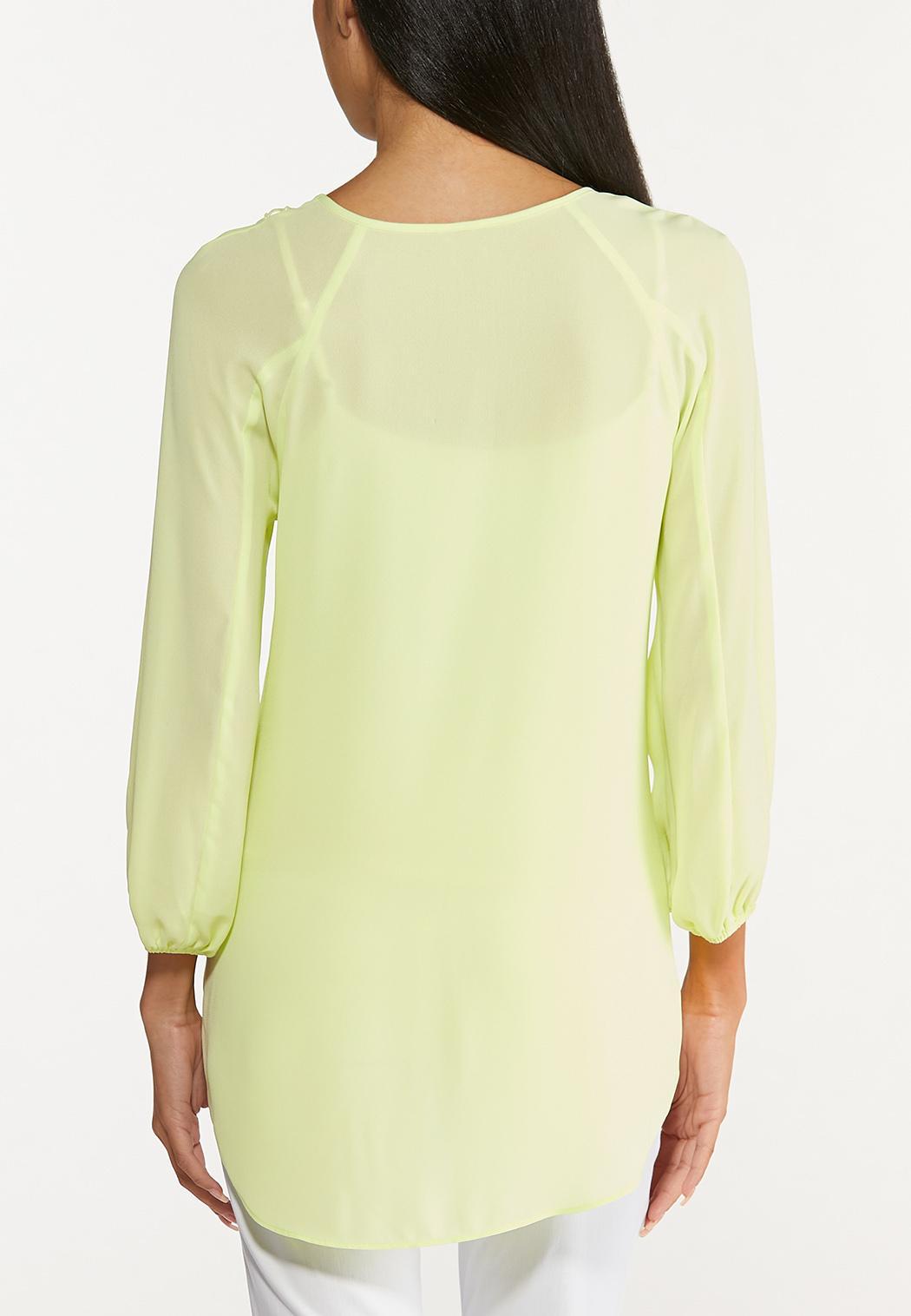 Lime Lace Trim Top (Item #44646168)