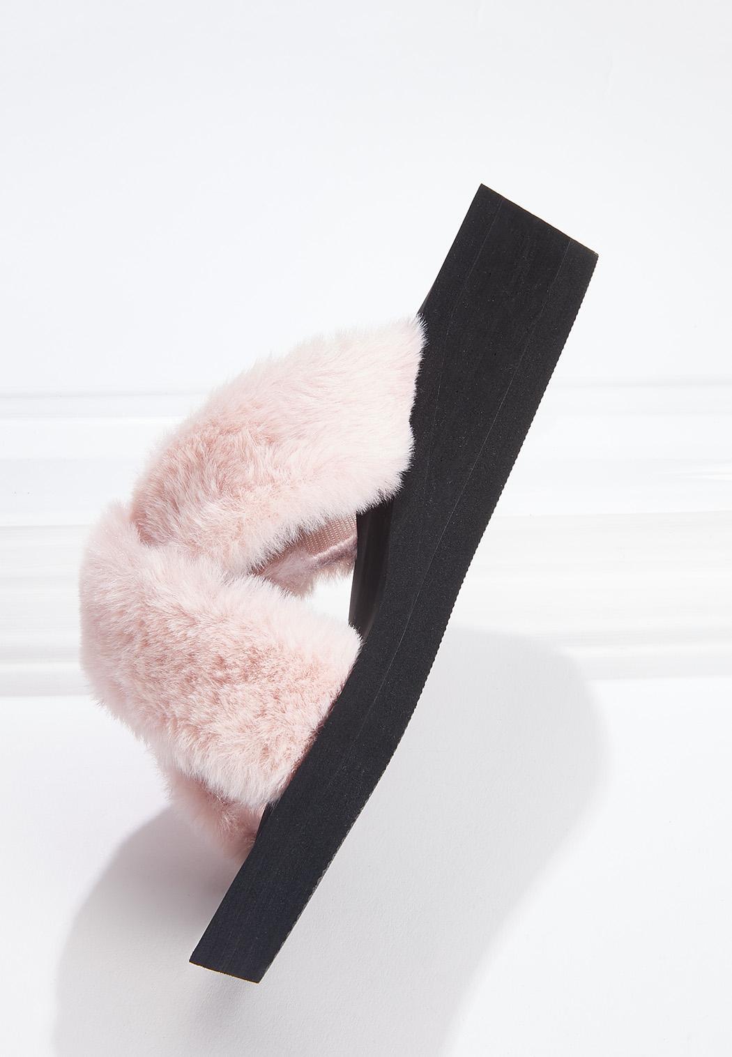 Fur Crossband Slides (Item #44646632)