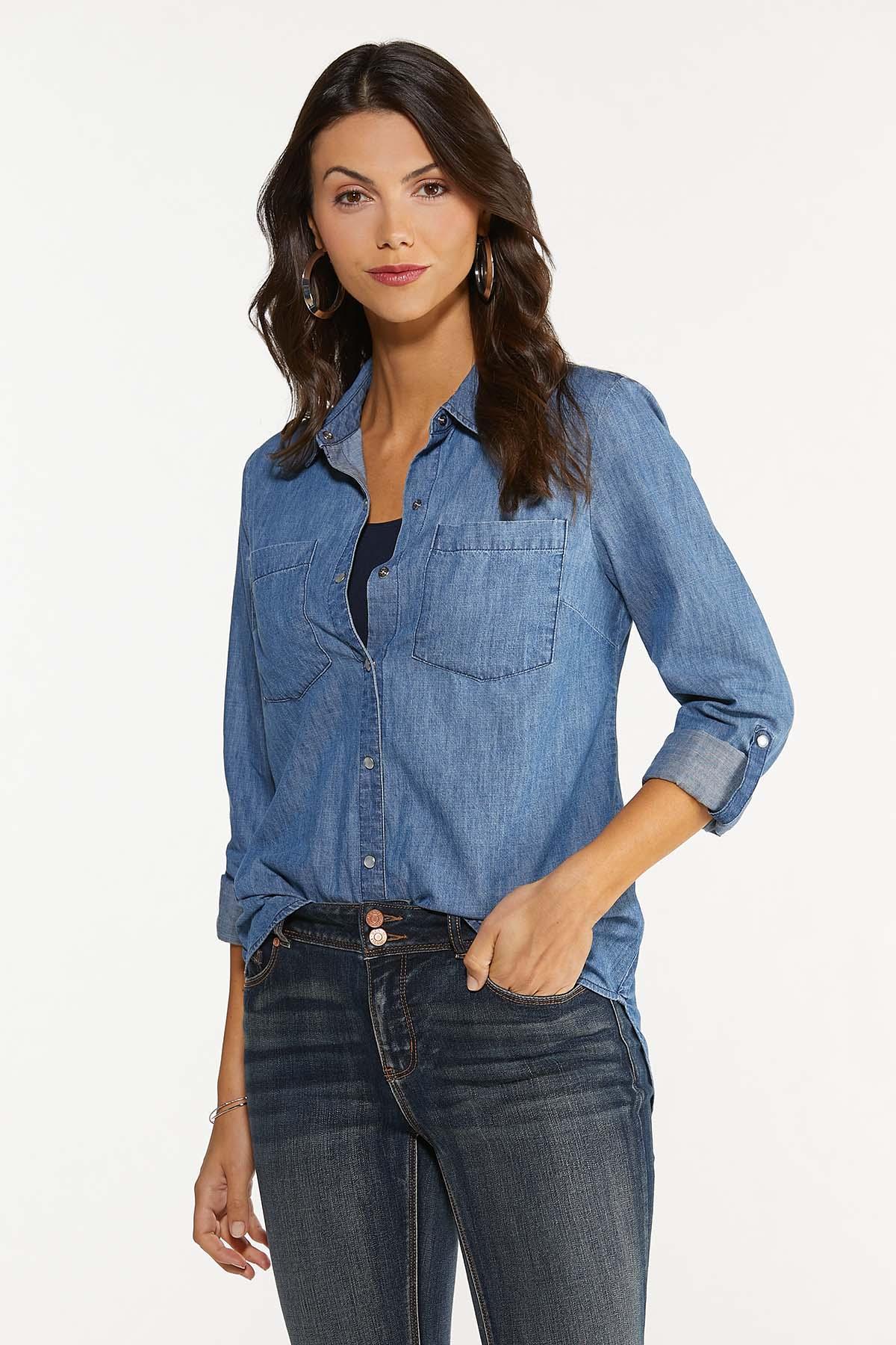 Medium Wash Denim Shirt (Item #44646745)