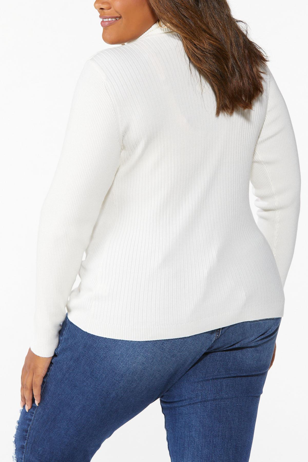 Plus Size Ribbed Turtleneck Sweater (Item #44646998)