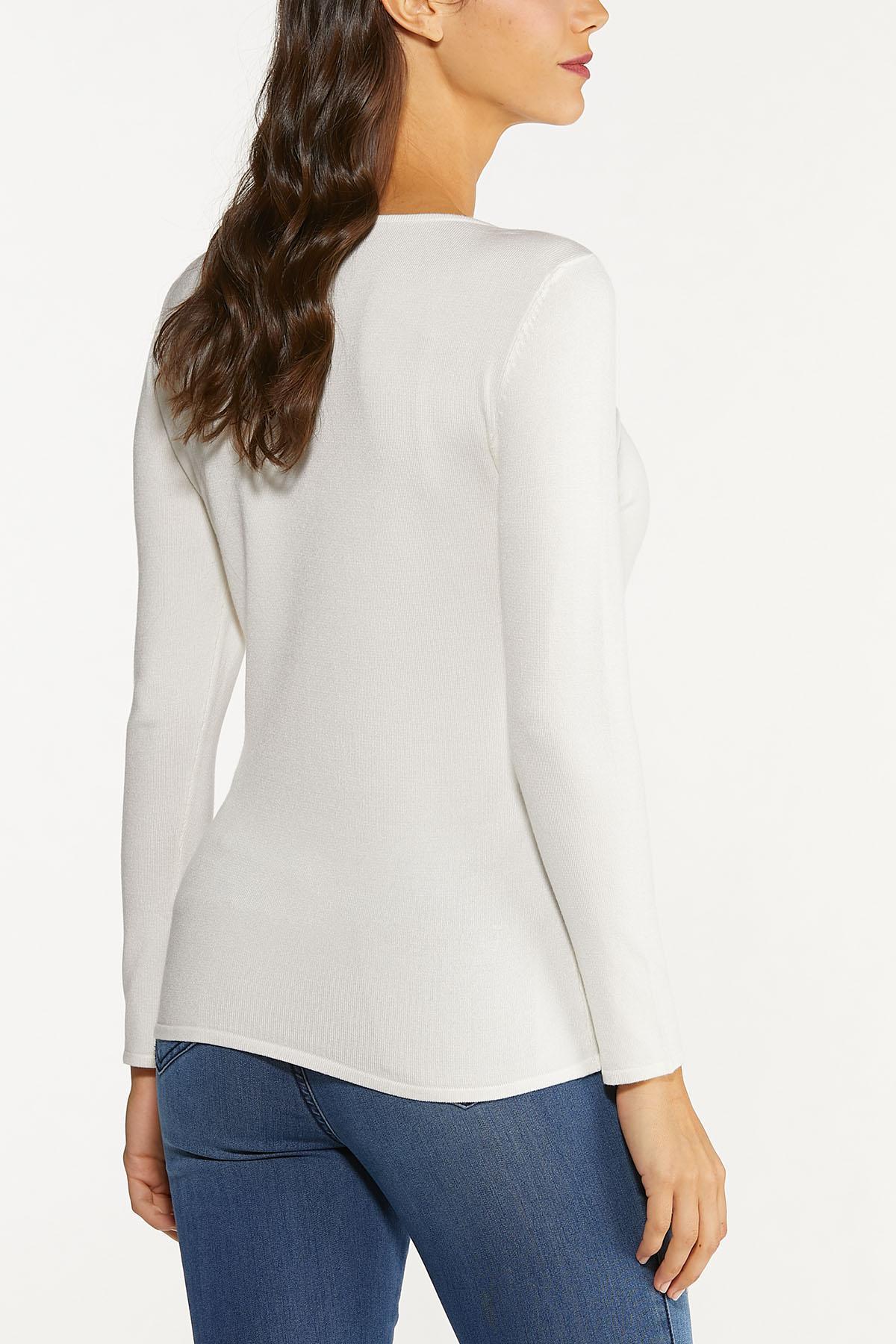 Plus Size Solid Scoop Neck Sweater (Item #44647052)