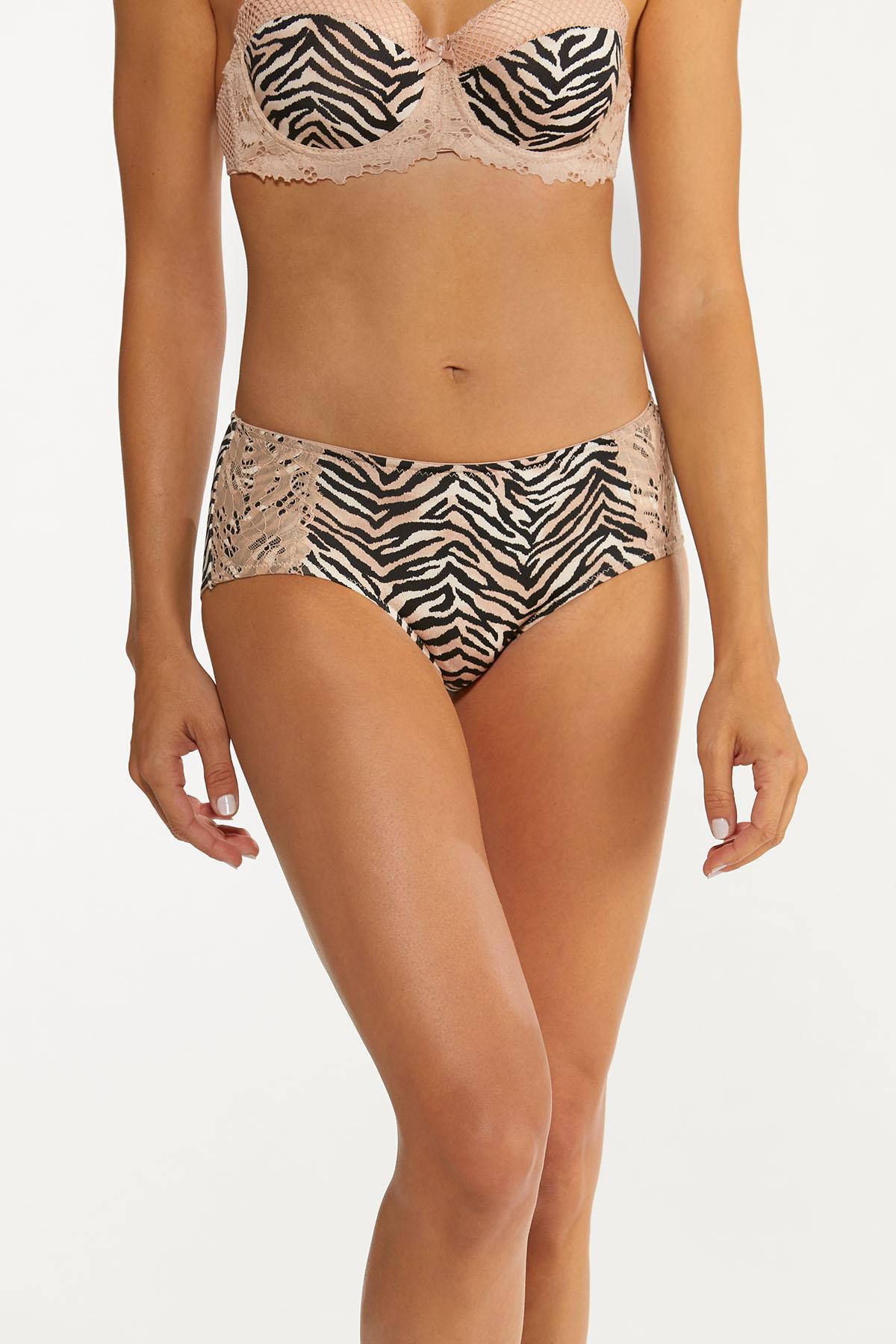 Plus Size Zebra Zest Panty Set (Item #44648352)