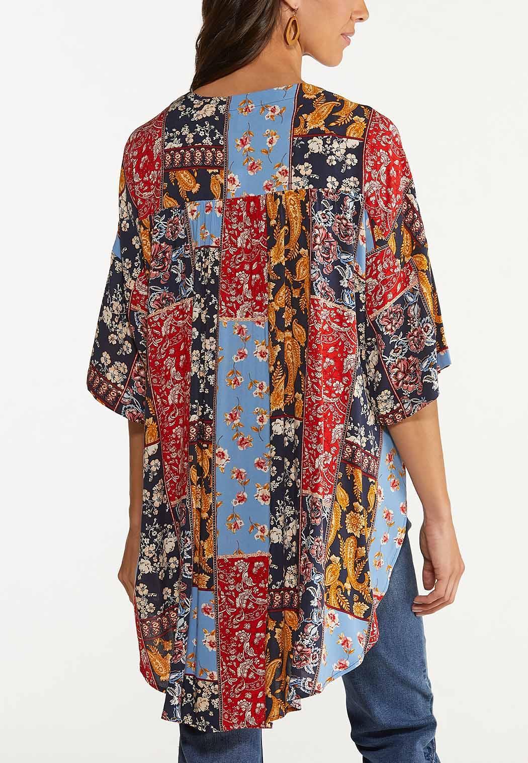 Plus Size Patchwork Kimono (Item #44648481)