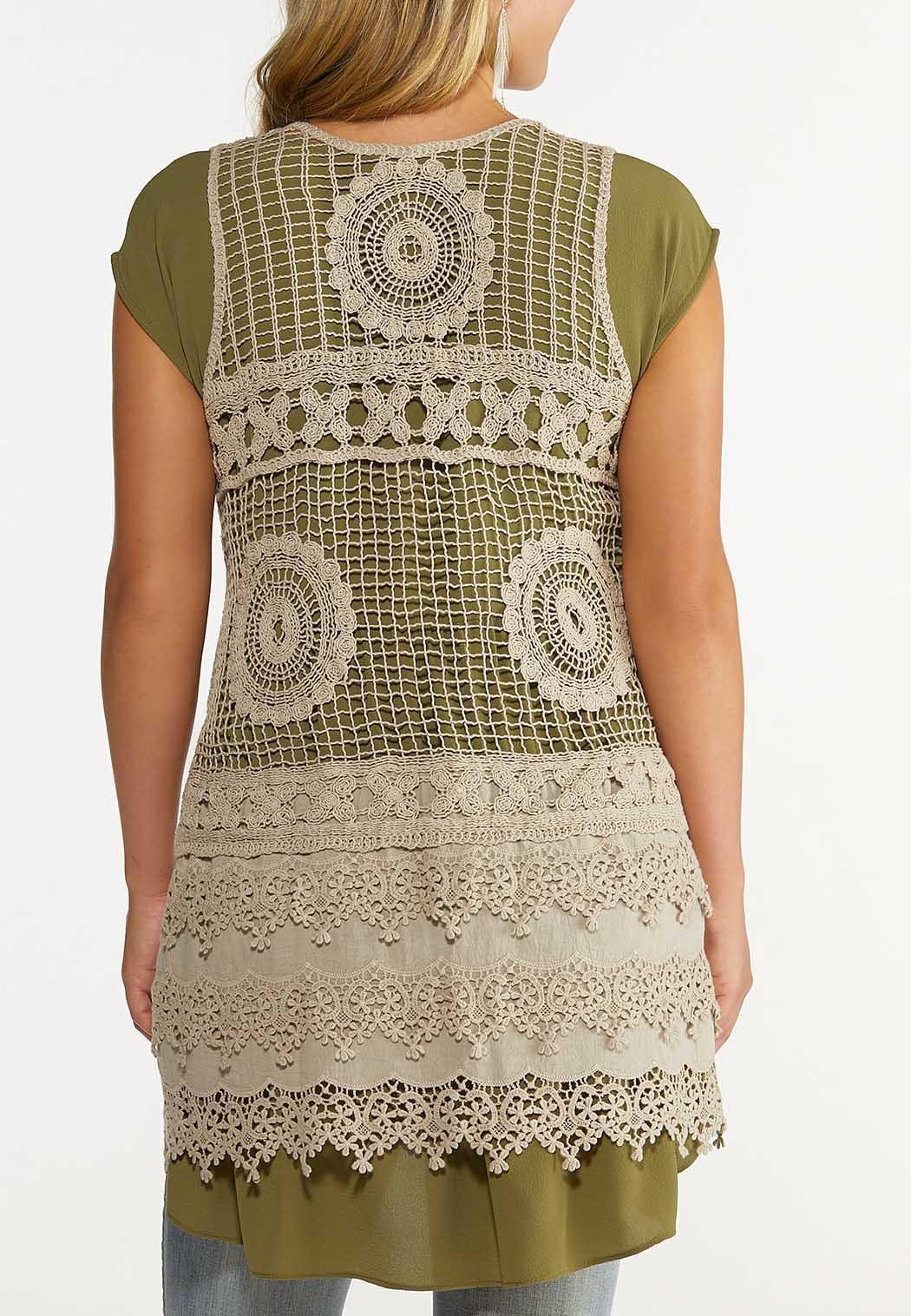 Plus Size Crochet Vest (Item #44648821)