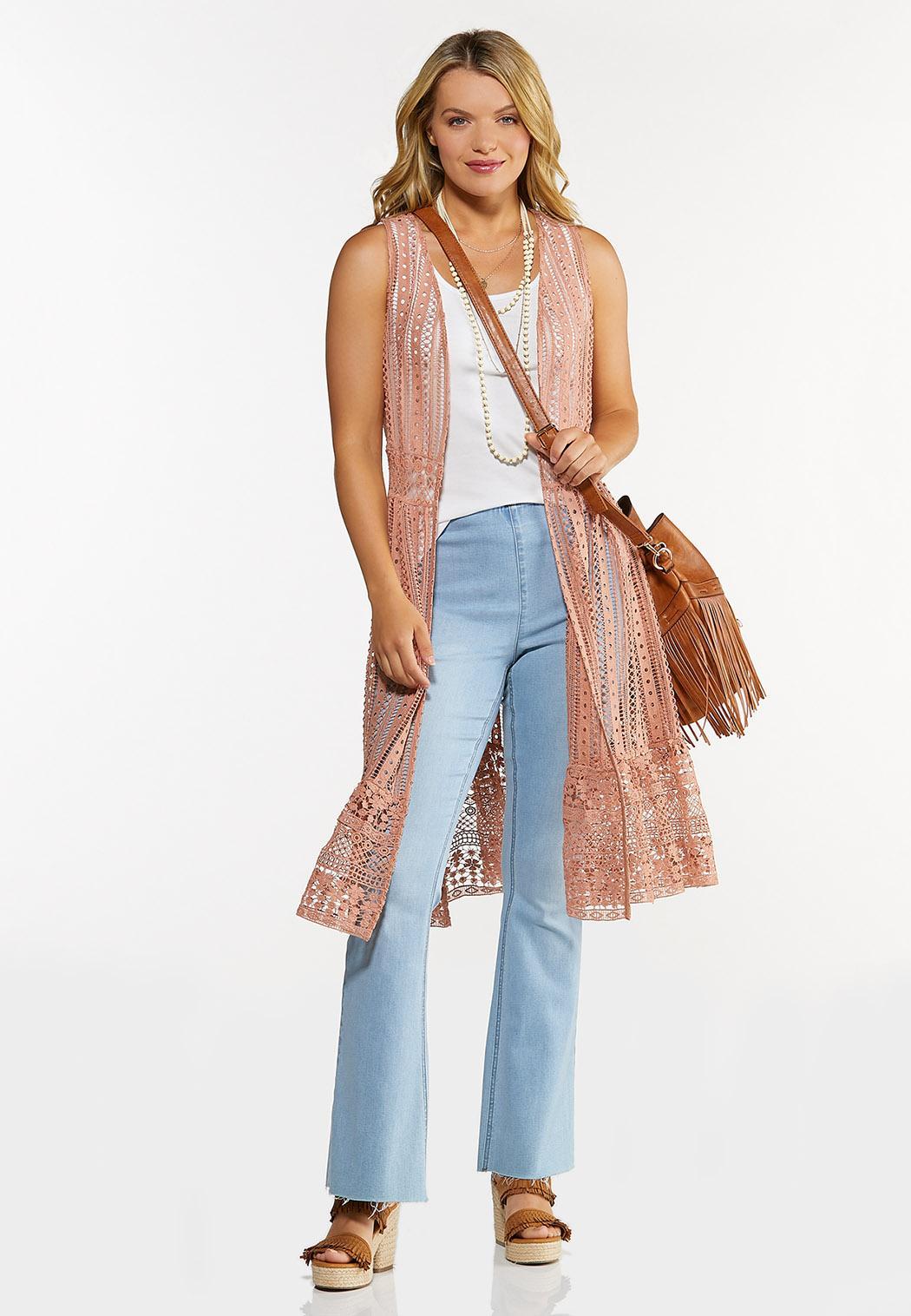 Ruffled Crochet Vest (Item #44648934)