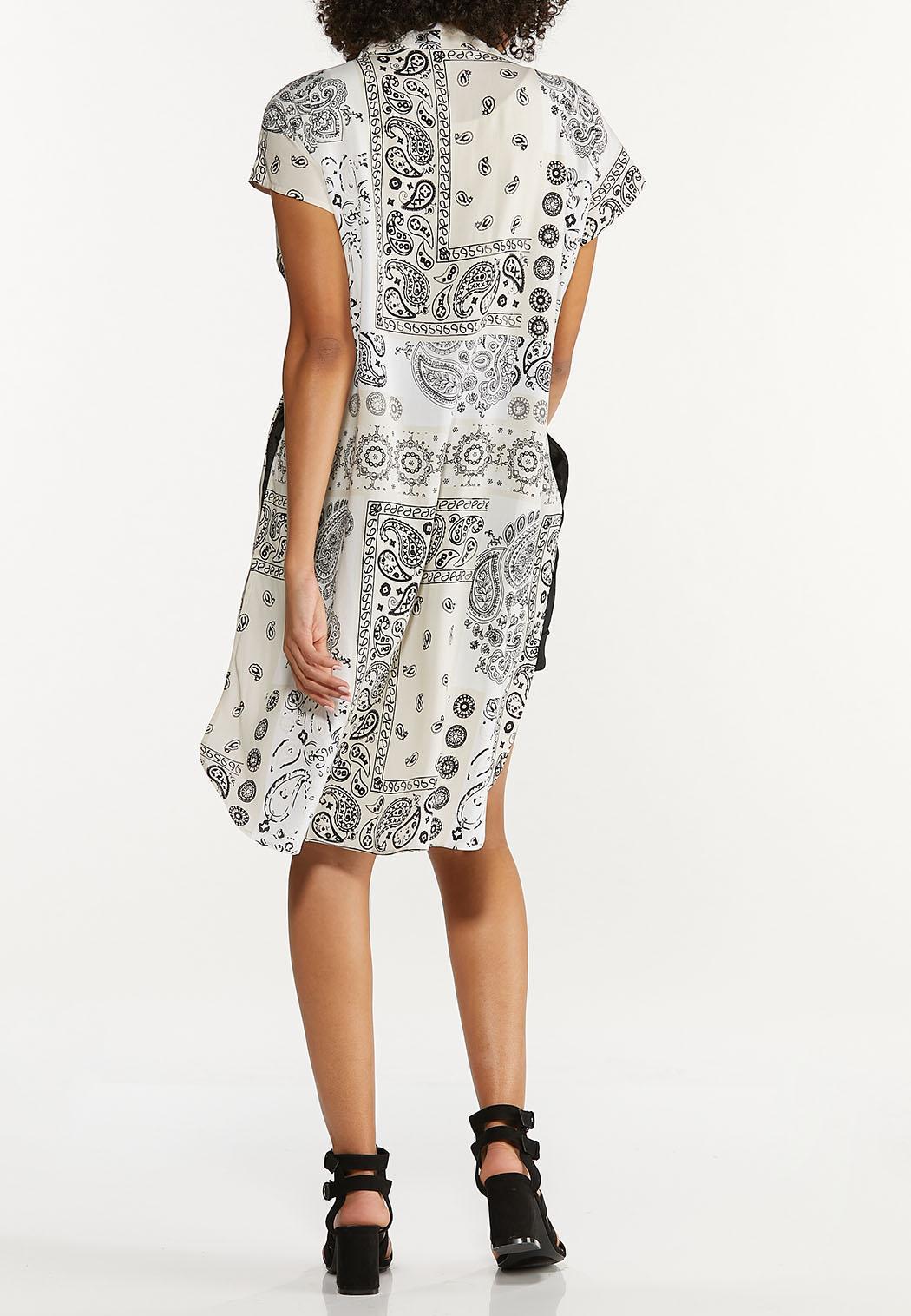 Patchwork Print Kimono (Item #44649995)