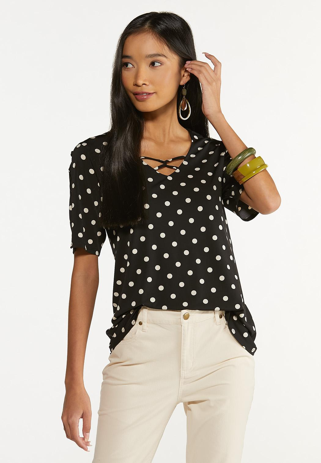 Dotted Criss Cross Top (Item #44650200)