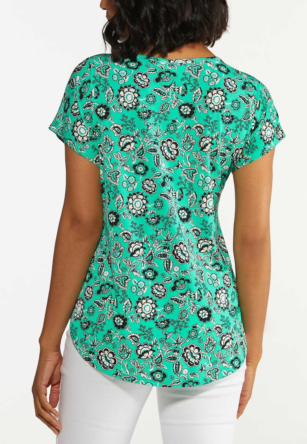 Green Floral Top (Item #44650240)