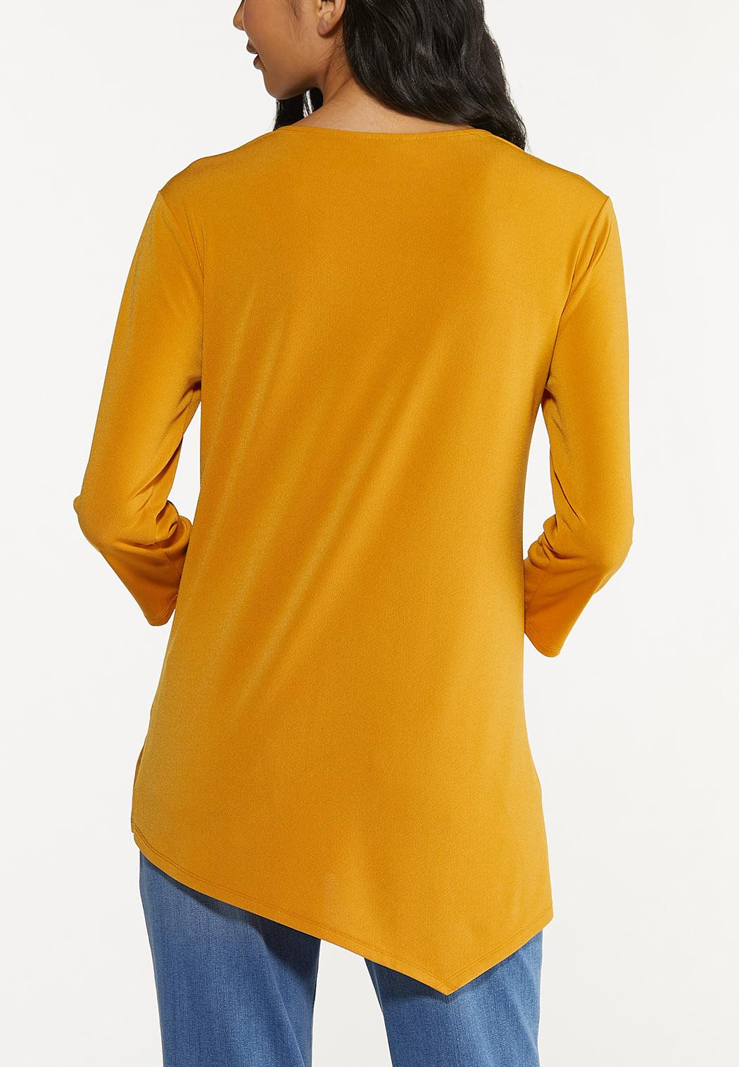 Gold Asymmetrical Top (Item #44650294)