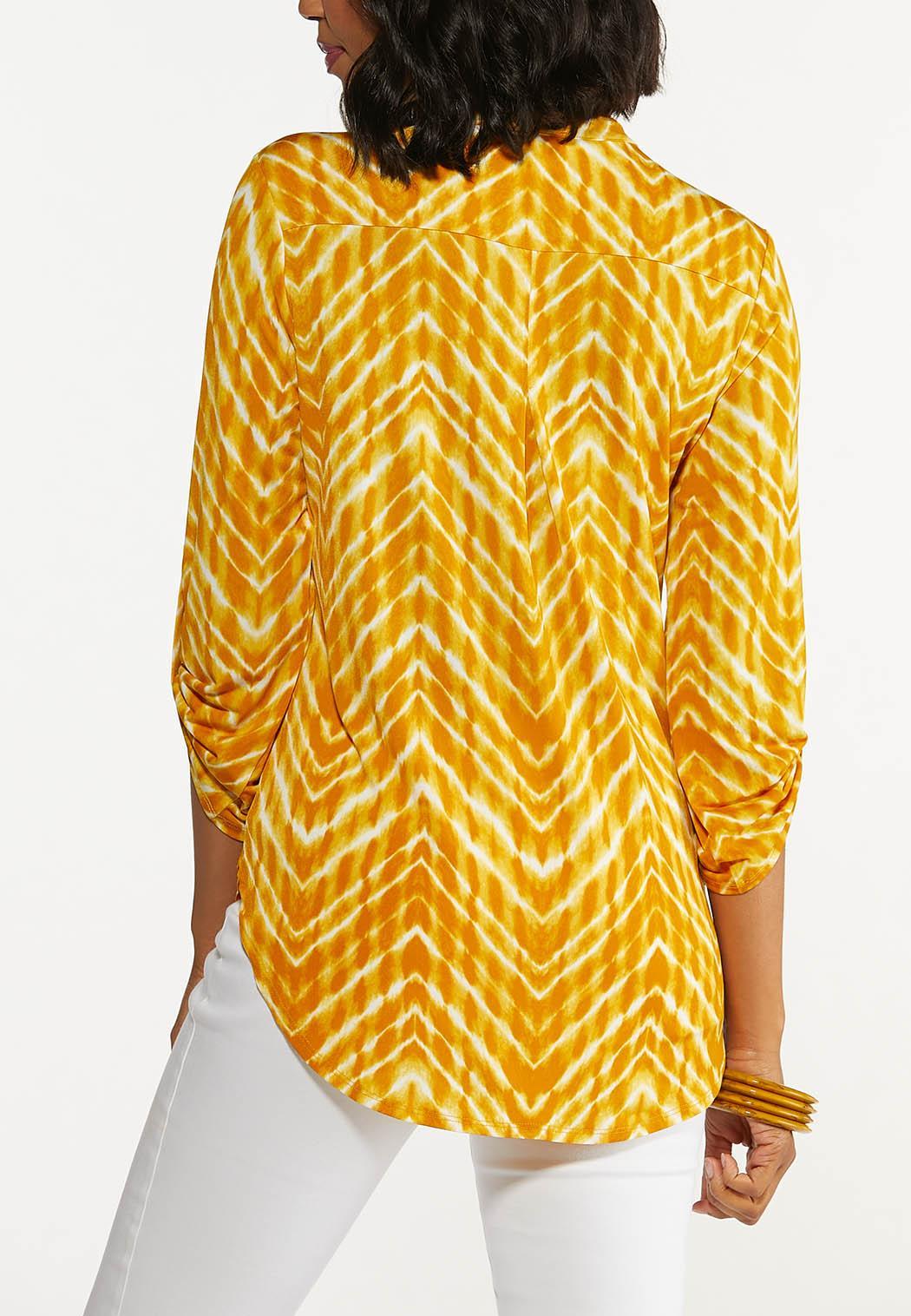 Plus Size Chevron Dye Top (Item #44650358)