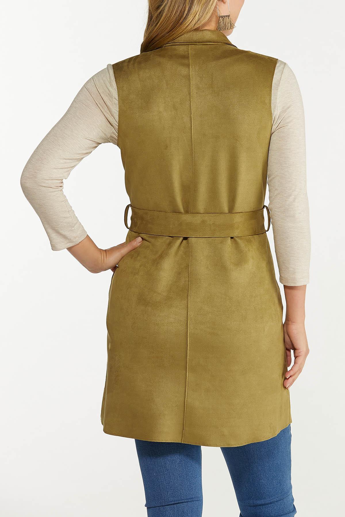 Plus Size Faux Suede Vest (Item #44650888)