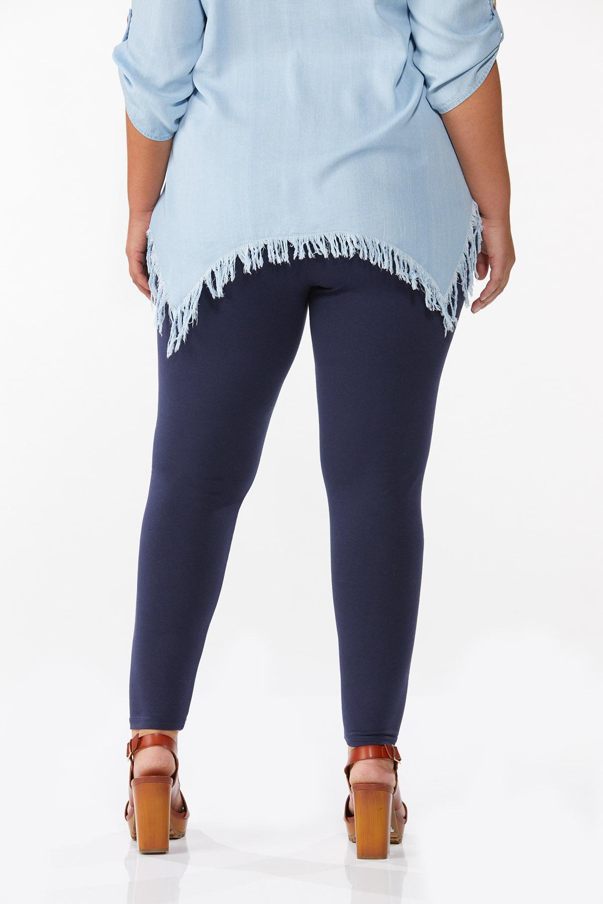 Plus Size Solid Leggings (Item #44651008)