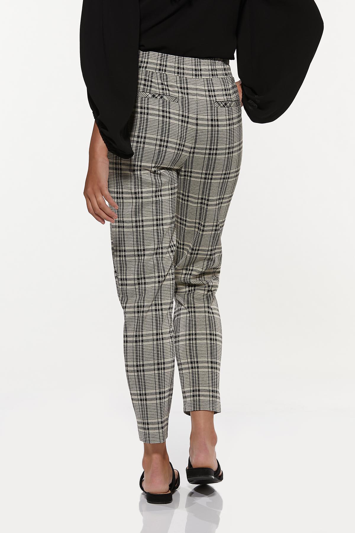 Plaid Tie Waist Pants (Item #44651034)
