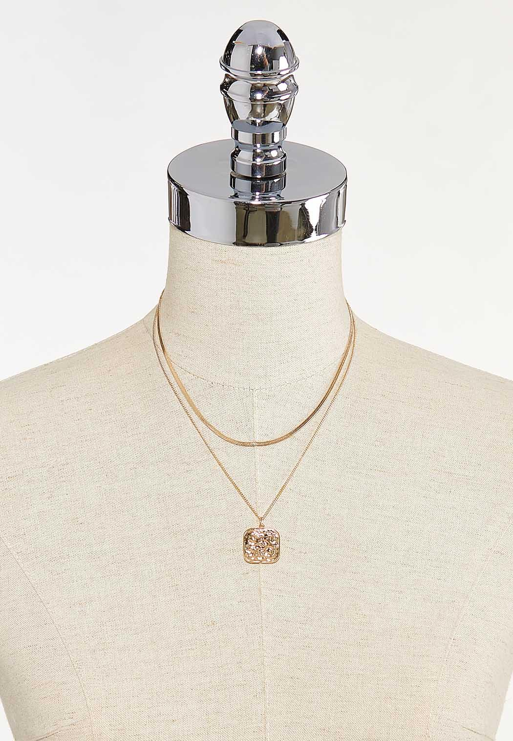 Layered Coin Pendant Necklace (Item #44651191)