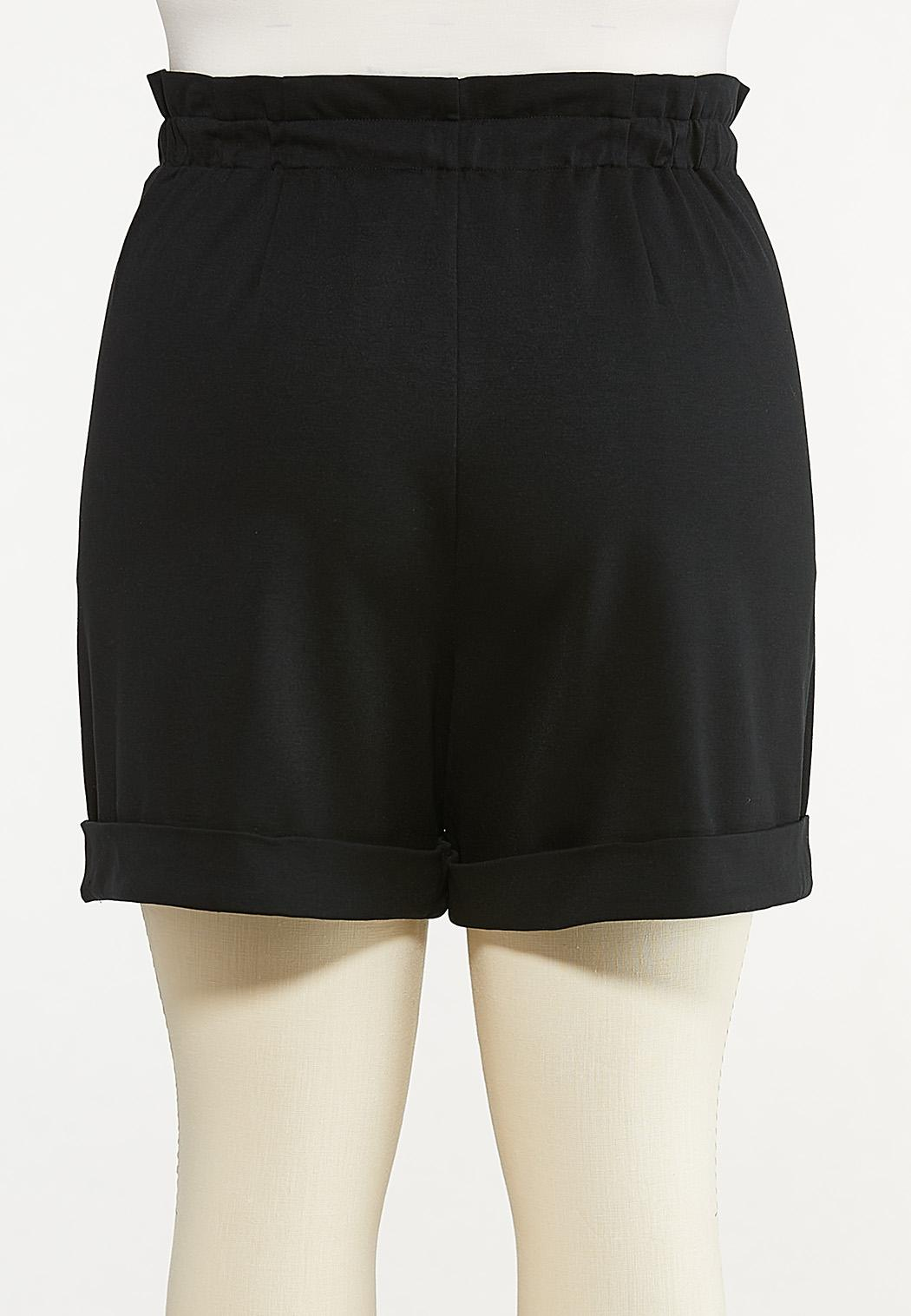 Plus Size Ponte Cuff Shorts (Item #44651272)