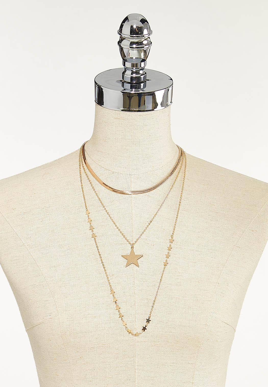 Layered Star Necklace (Item #44651633)