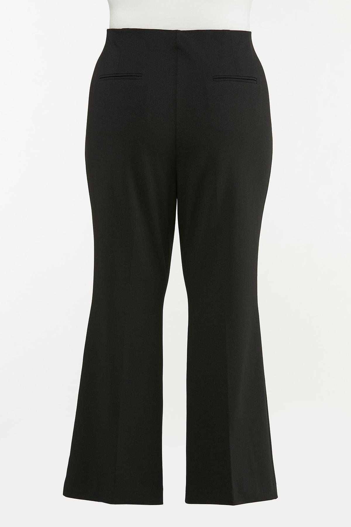 Plus Size Sailor Button Pull-On Pants (Item #44651675)