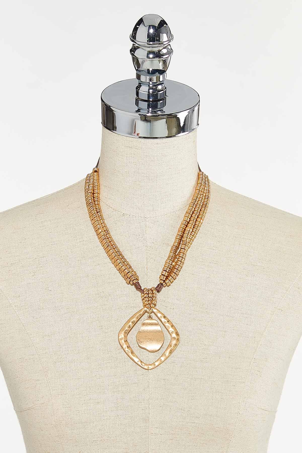 Layered Bead Pendant Necklace (Item #44651716)
