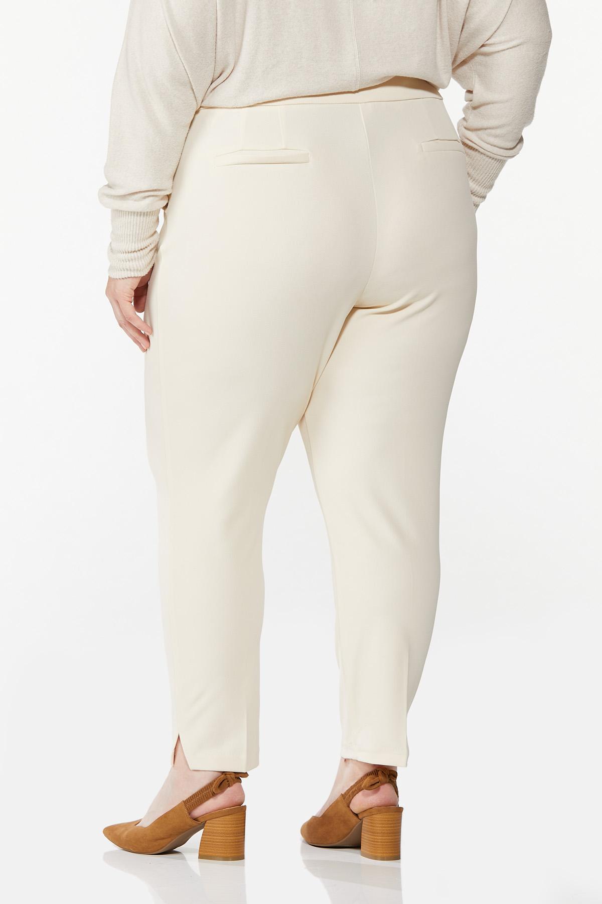 Plus Size Slim Pull-On Pants (Item #44651803)