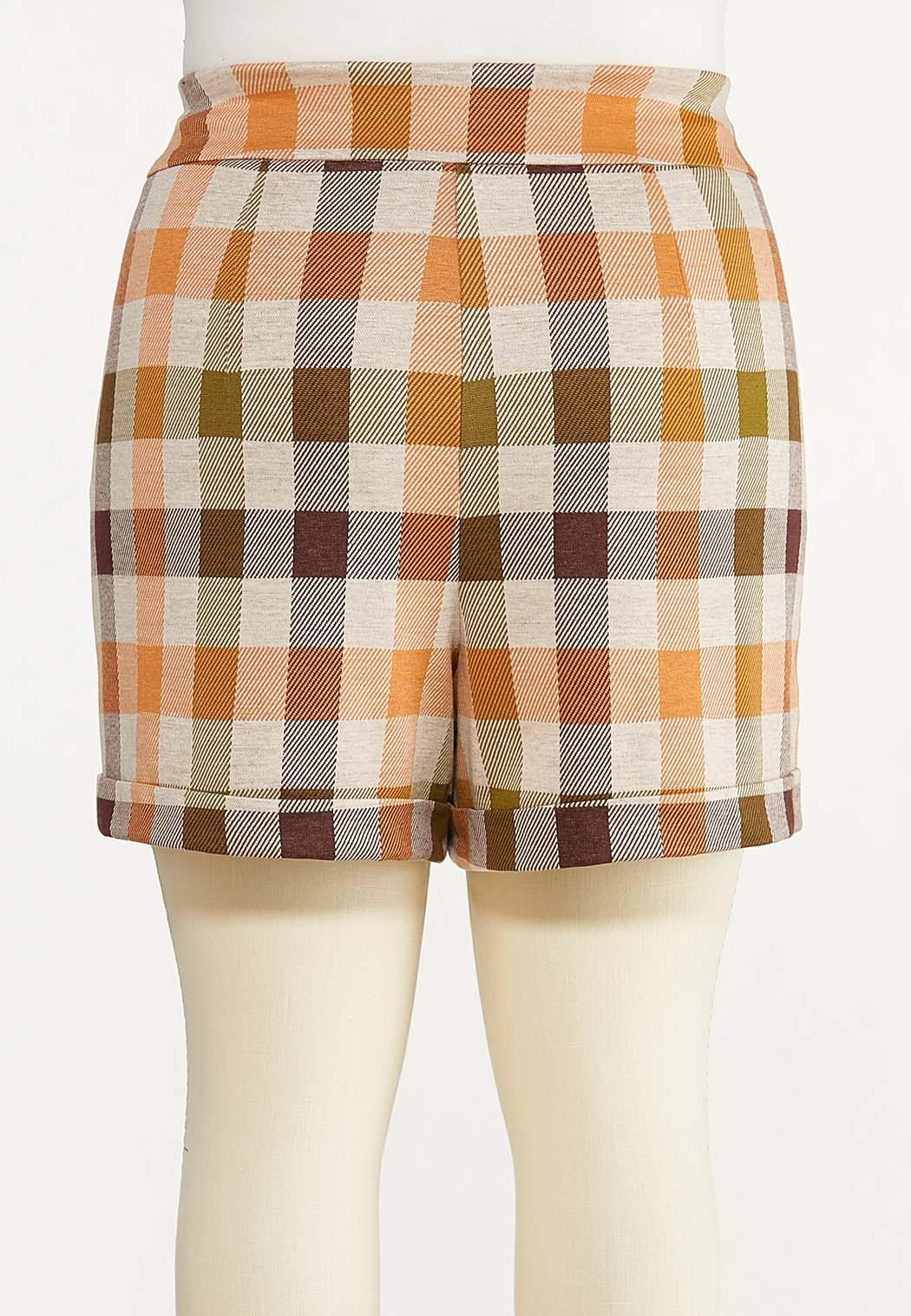 Plus Size Harvest Plaid Shorts (Item #44651980)