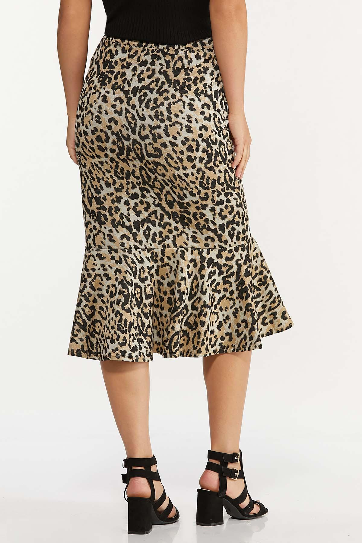 Flounced Leopard Skirt (Item #44652027)