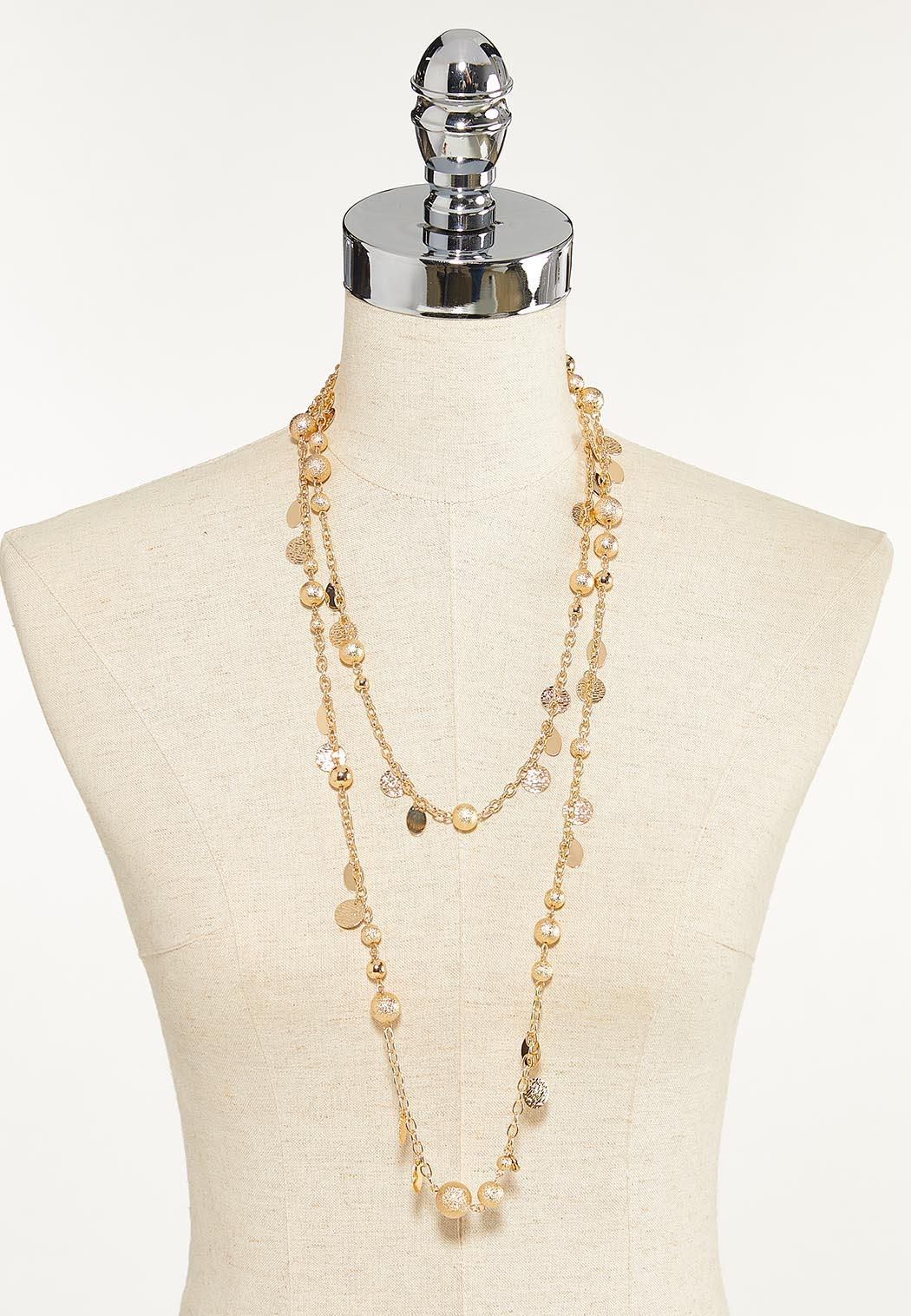 Layered Shaky Disc Necklace (Item #44652078)