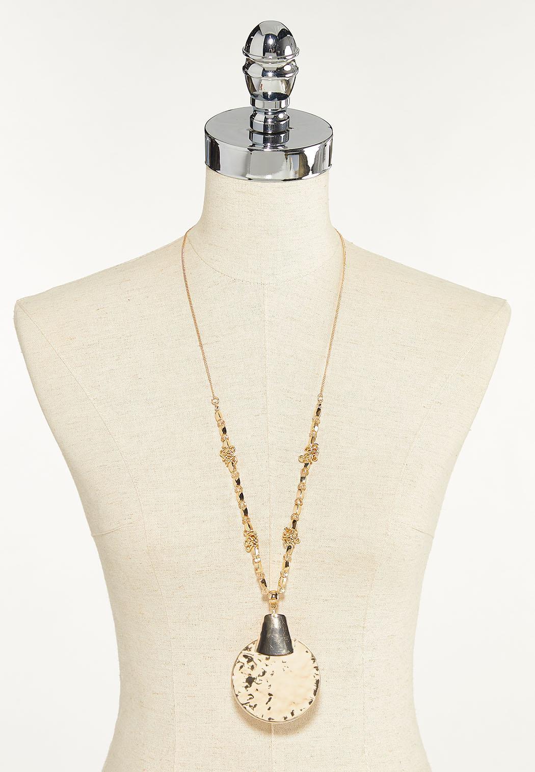Hammered Pendant Necklace (Item #44652080)
