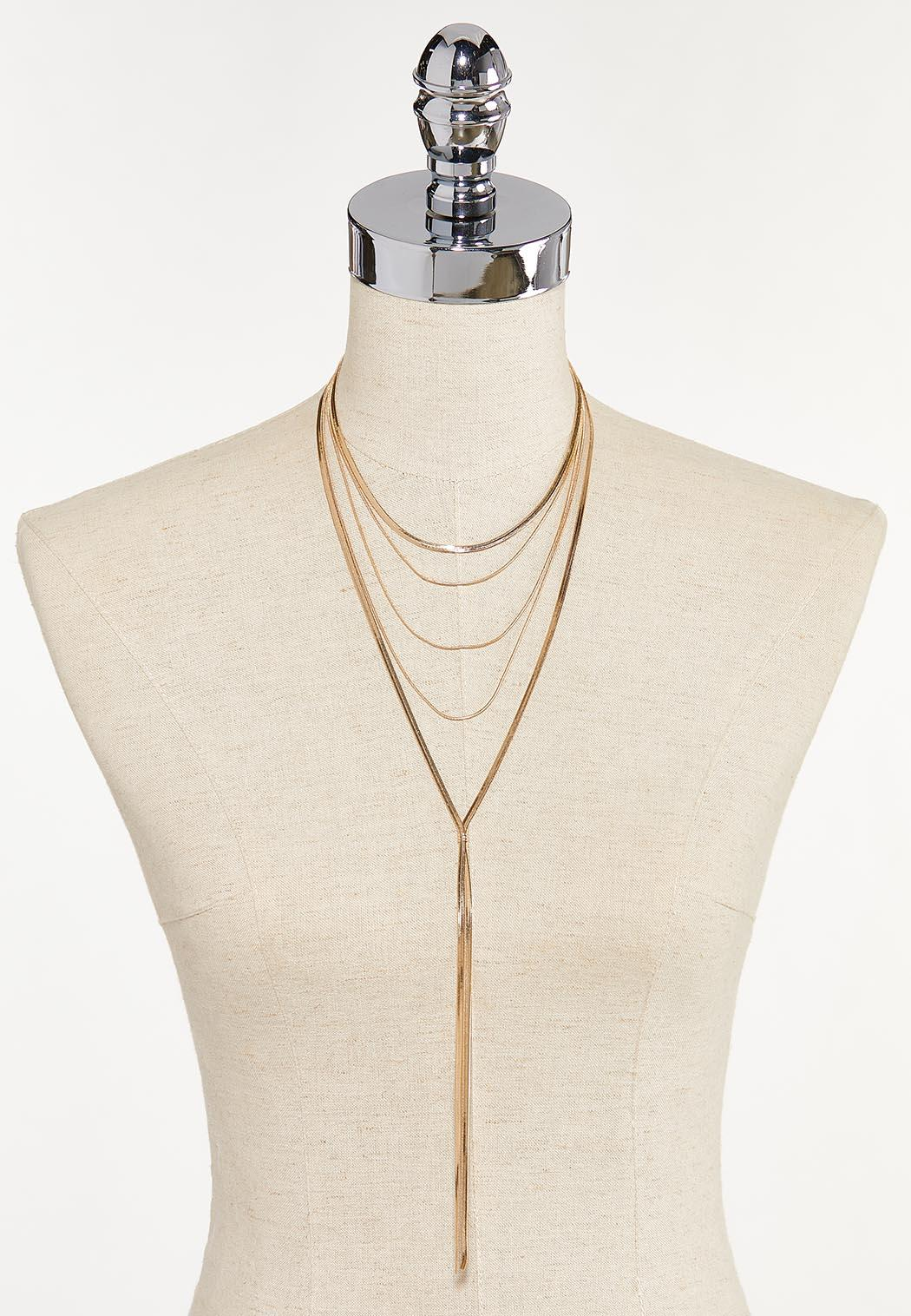 Layered Snakechain Y-Necklace (Item #44652082)