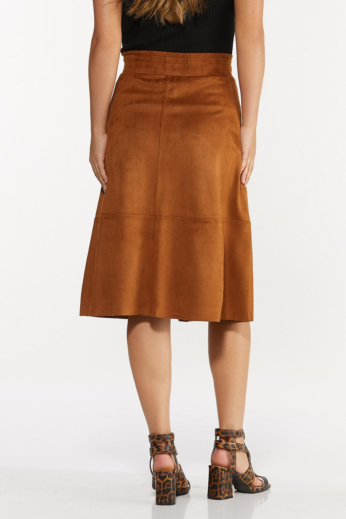 Faux Suede Midi Skirt (Item #44652203)