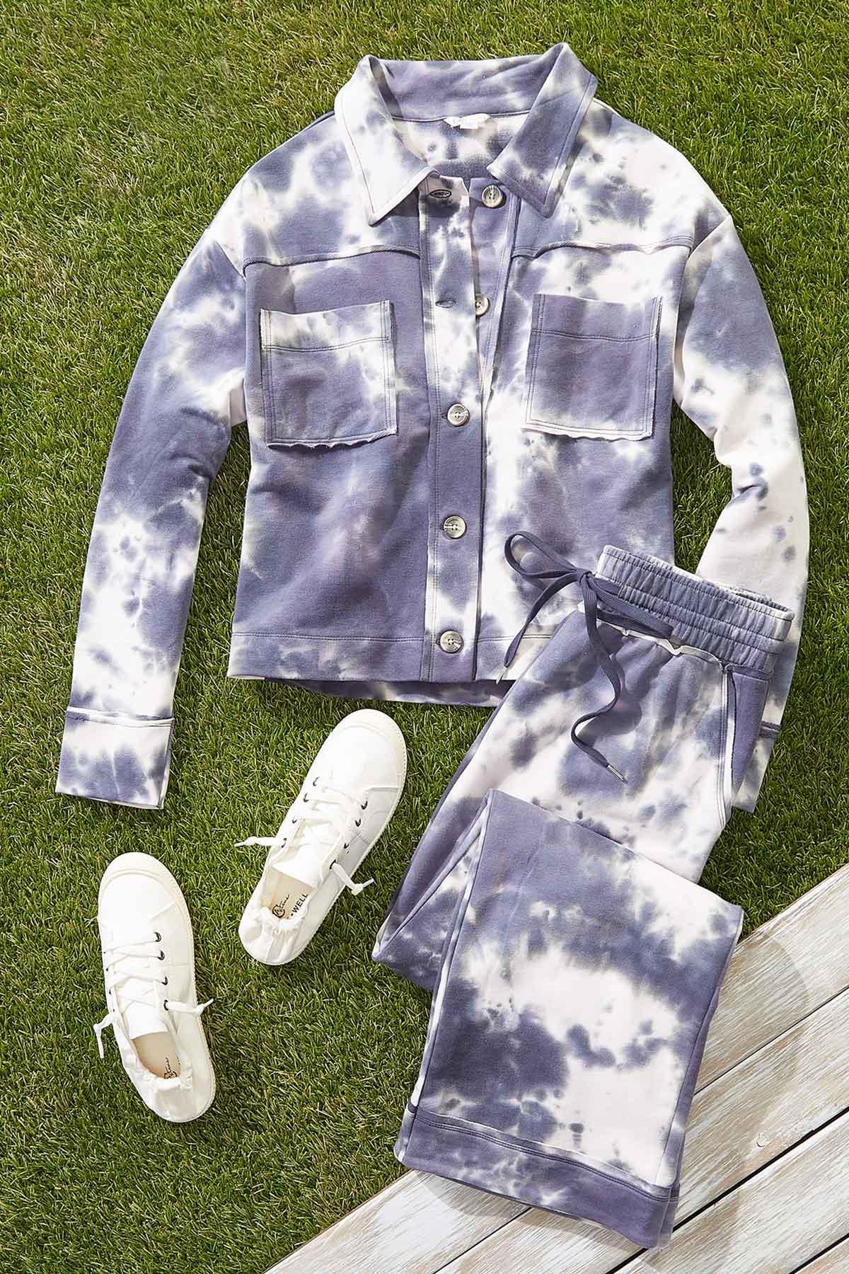 Plus Size Tie Dye Pants (Item #44652527)