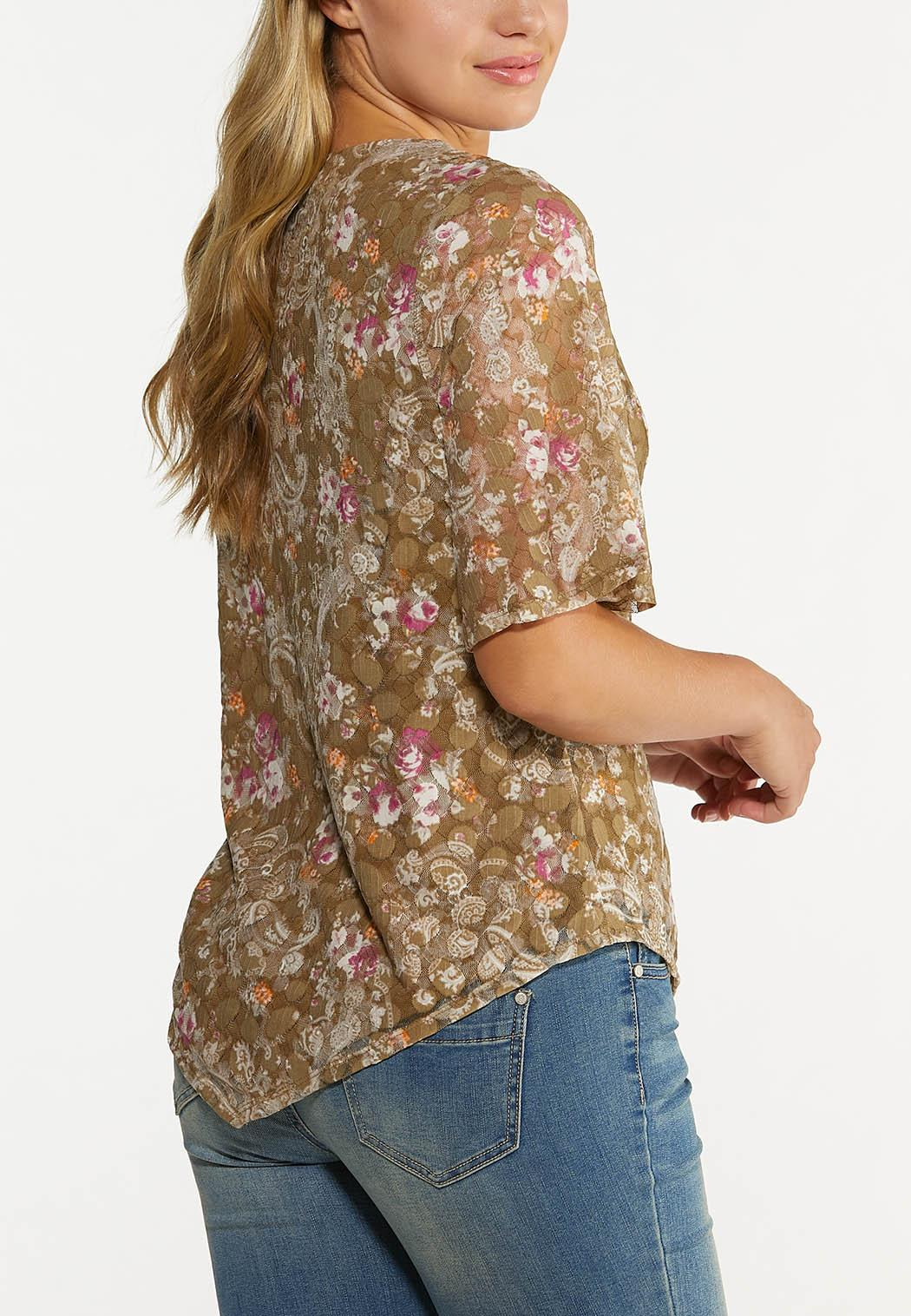 Lacy Pointed Hem Top (Item #44652732)