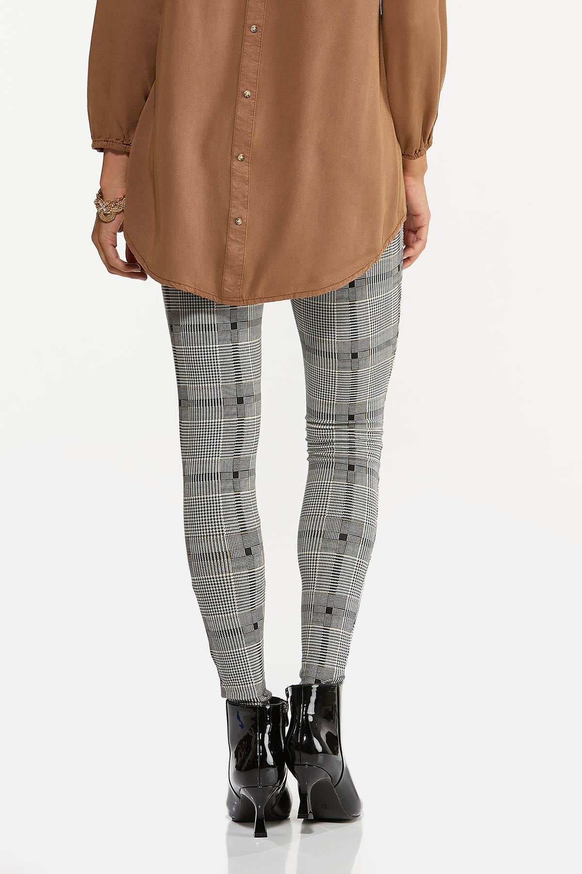 Houndstooth Plaid Leggings (Item #44654897)
