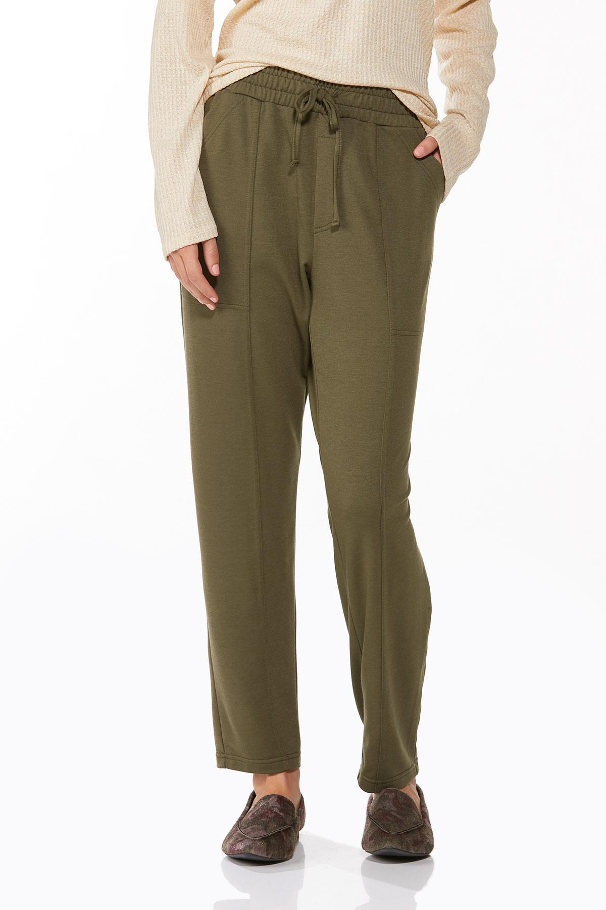 Petite Soft Olive Pants (Item #44655263)