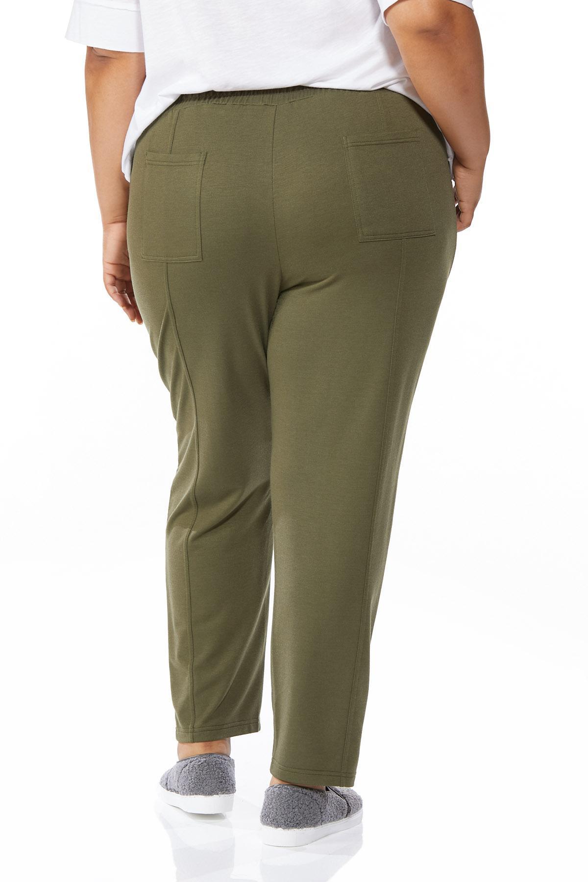 Plus Petite Soft Olive Pants (Item #44655286)