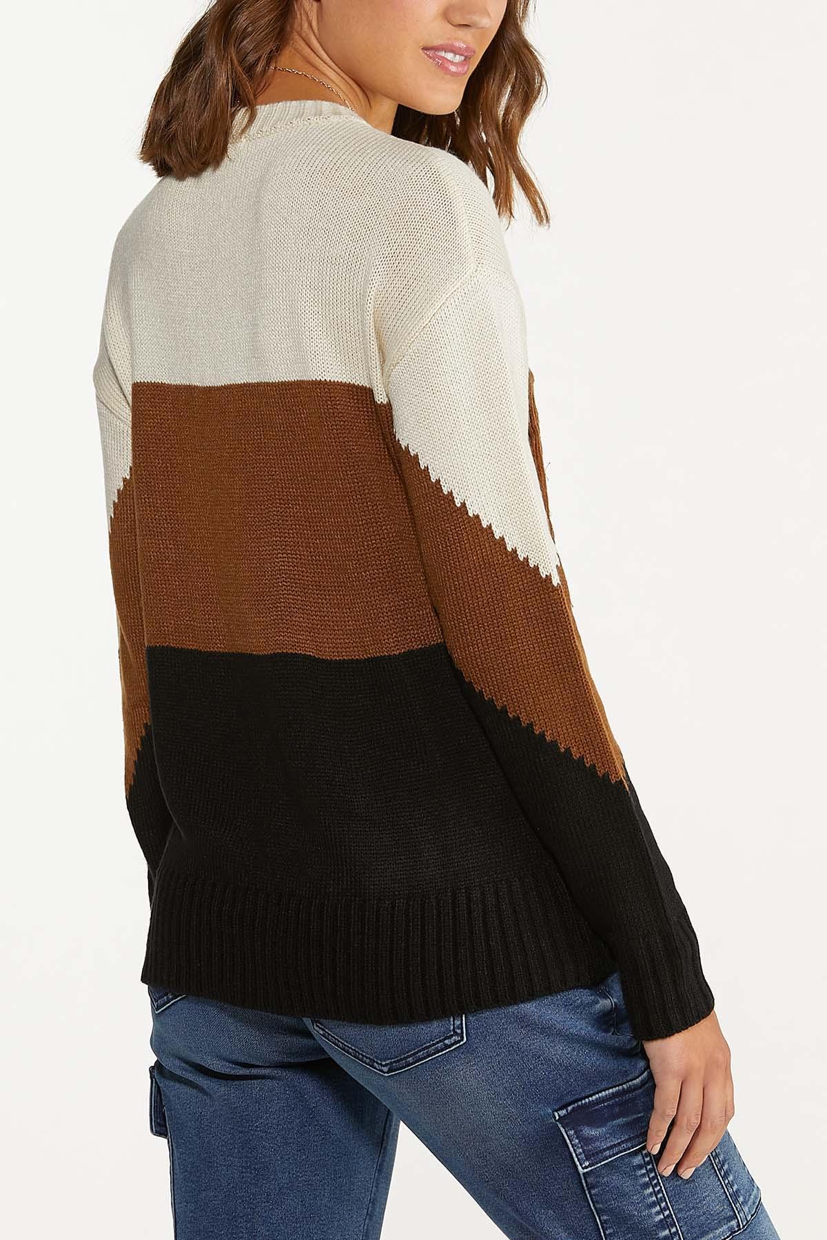Fringe Colorblock Sweater (Item #44655485)
