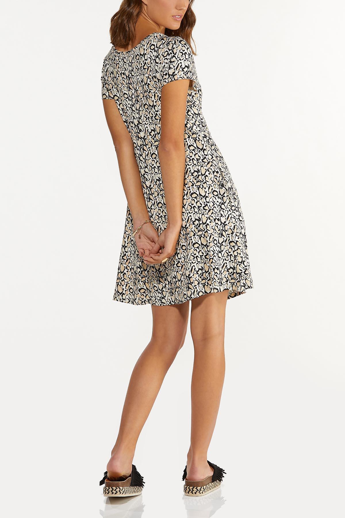Plus Size Leopard Swing Dress (Item #44655660)