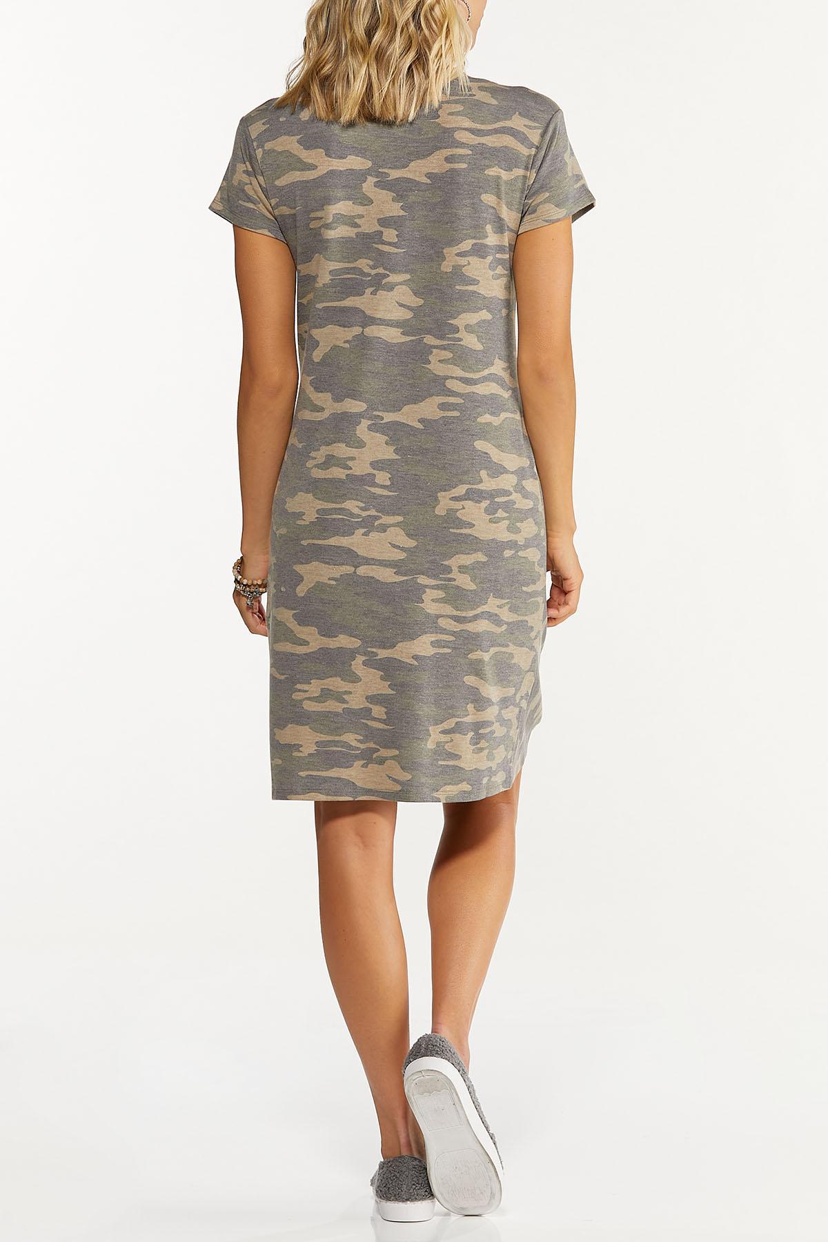 Plus Size Twisted Camo Dress (Item #44655752)