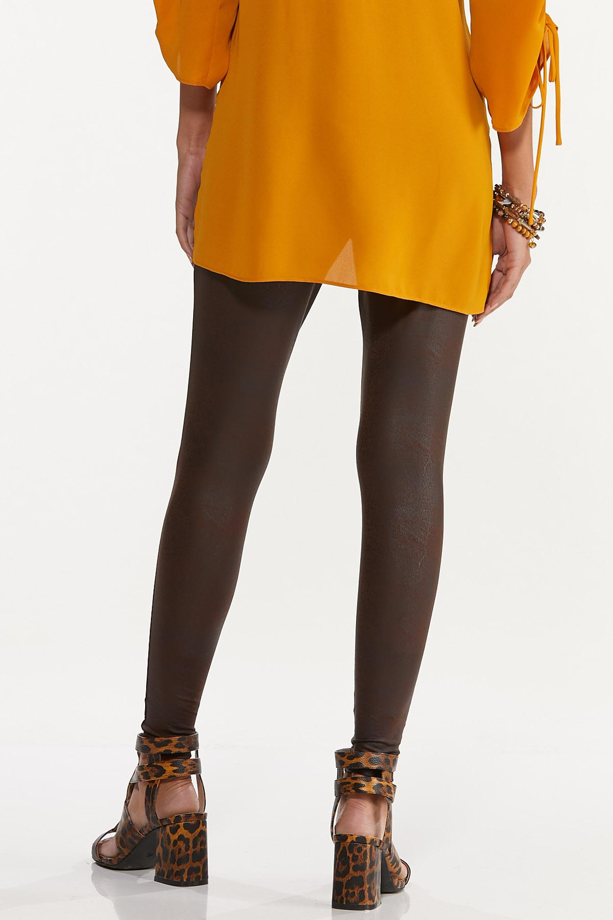 Solid Coated Leggings (Item #44655880)