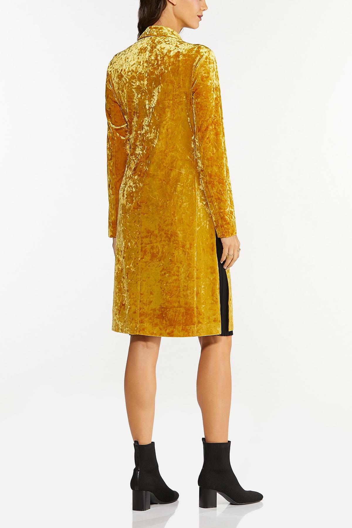 Plus Size Gold Velvet Topper (Item #44656356)