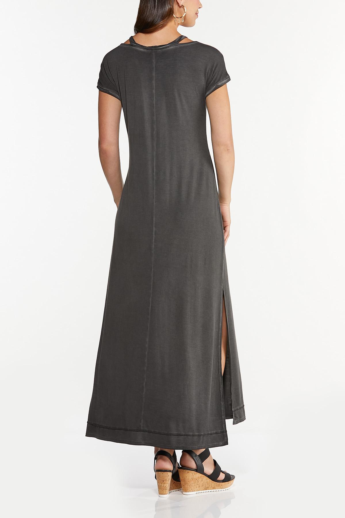 Cutout Tee Shirt Maxi Dress (Item #44656445)
