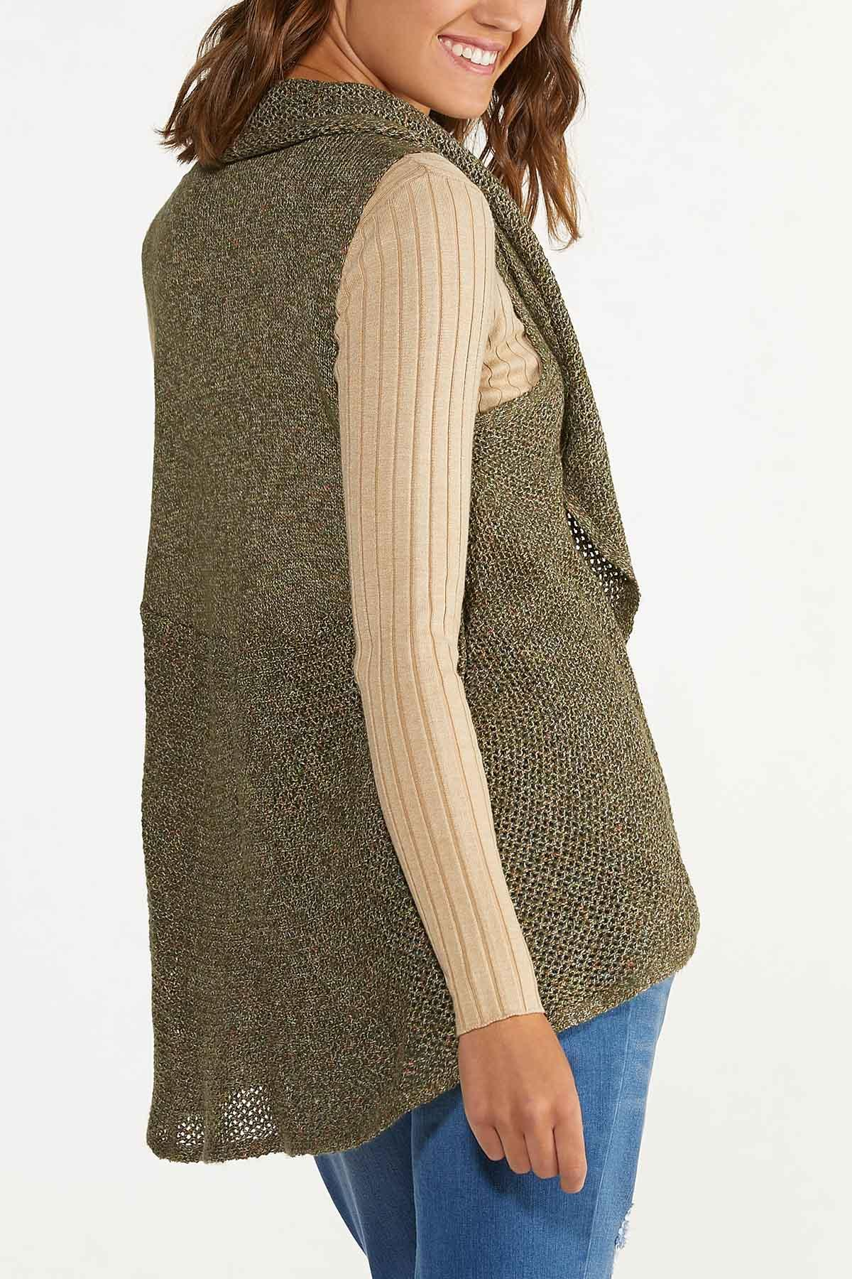 Plus Size Olive Sweater Vest (Item #44656481)