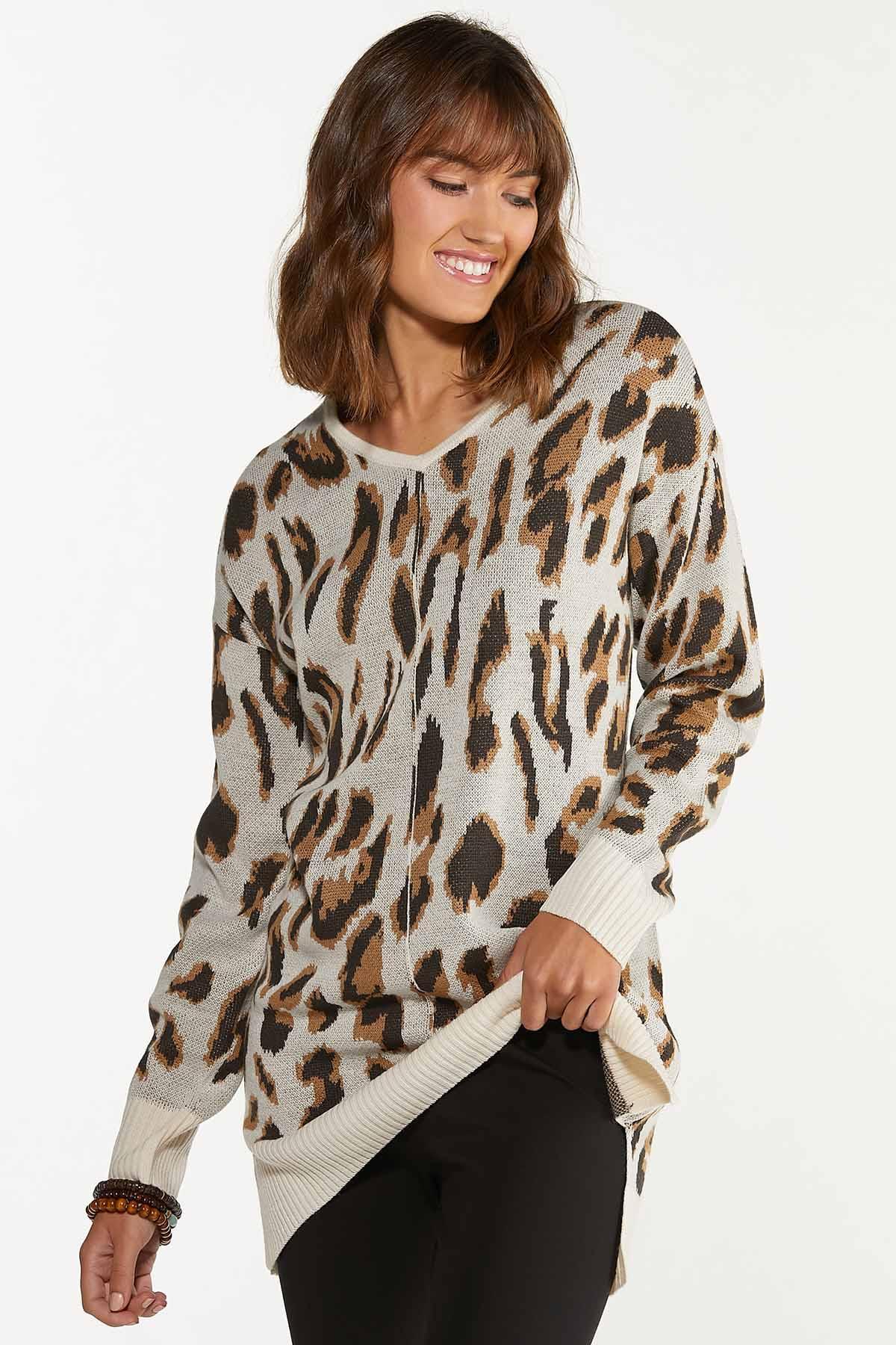 Leopard Tunic Sweater (Item #44656498)