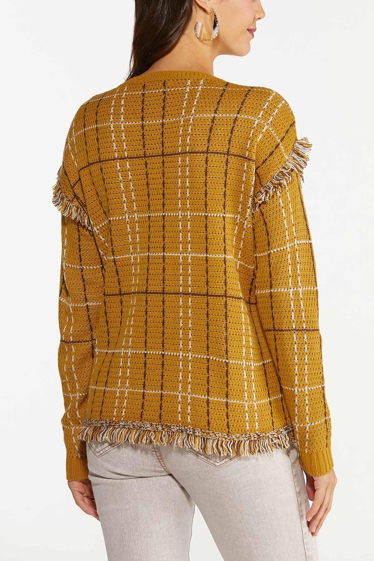 Fringe Trim Sweater (Item #44656533)