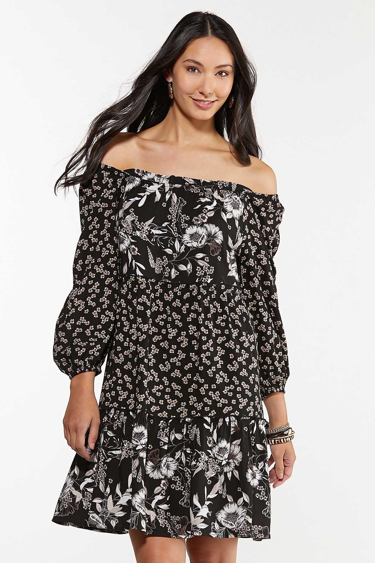 Plus Size Twin Floral Swing Dress (Item #44656712)